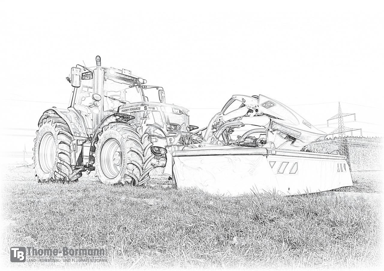 ausmalbilder traktoren  kinder ausmalbilder