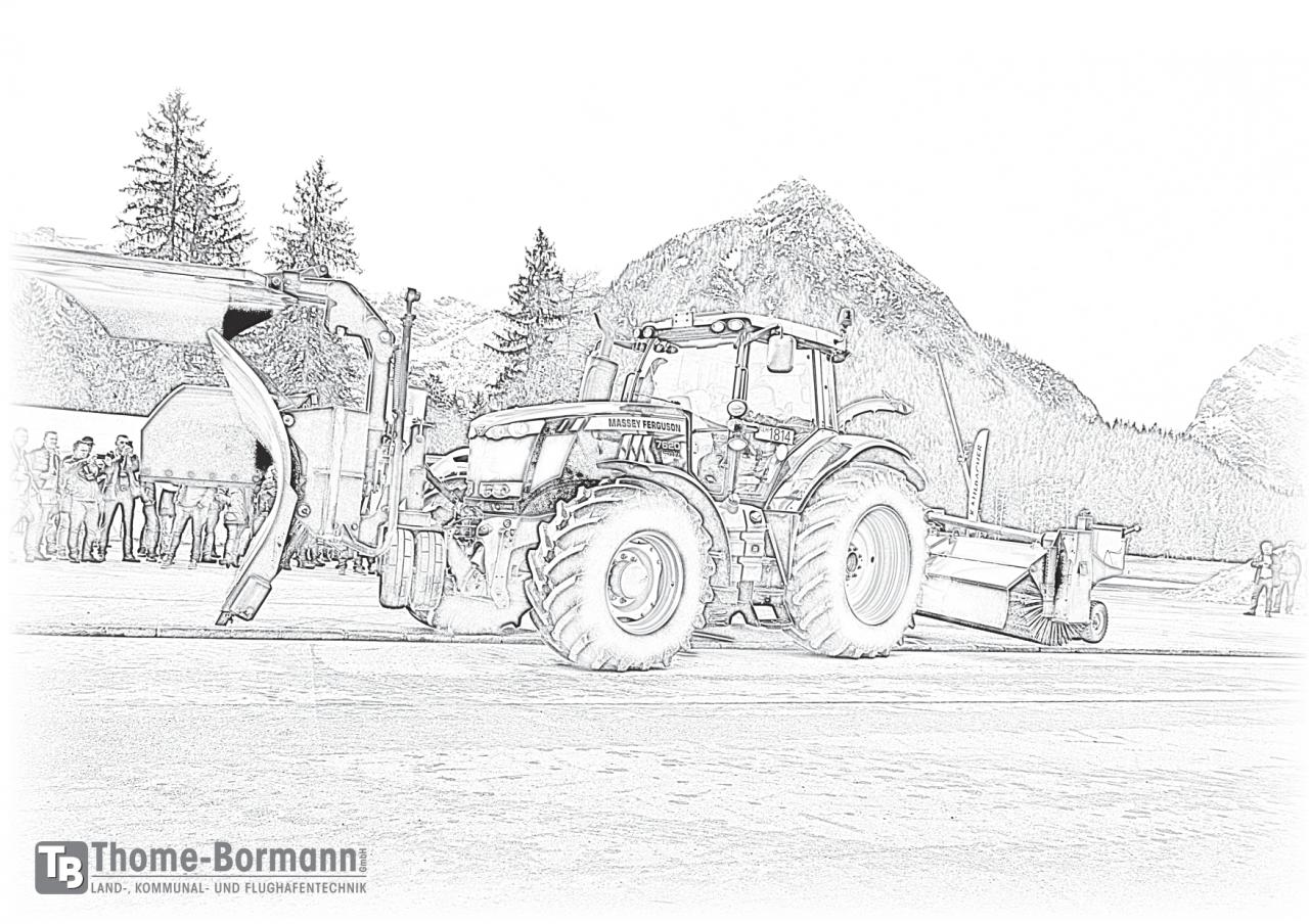 traktor ausmalbilder kostenlos  traktor detailiert